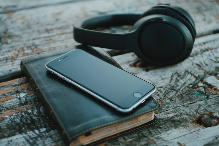 Bible, Phone, and Headphones